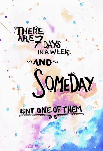 7 days work away~